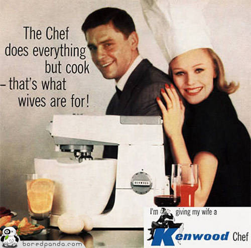 The Chef does everything but cook - that's what wives are for.